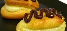 Low Fat Vanilla Pastry Cream and Mini Eclairs