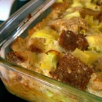 Artichoke and Parmesan Bread Pudding