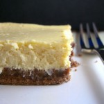 Bailey's Cheesecake Bars with Chocolate Crust