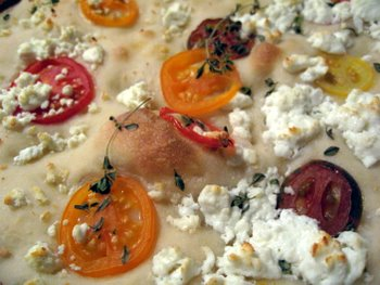 focaccia up close