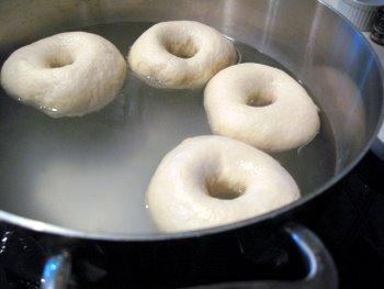 boiling bagels