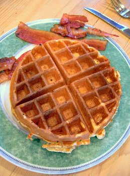 waffles n' bacon