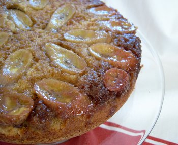 Banana Upside Down Cake close