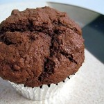 chocolate muffin, top