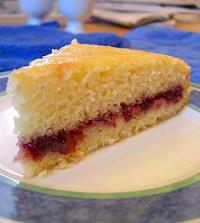 sponge cake with jam