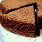 chocolate torte slice