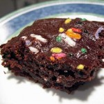 homemade funfetti brownie