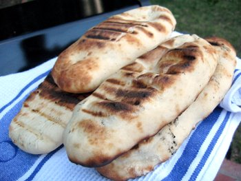 pile o' grilled flatbread