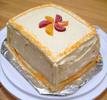 Orange Layer Cake with Orange Buttercream and Raspberry Filling ...
