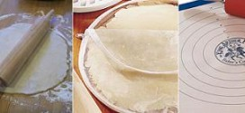 Rolling out pie crust is easy