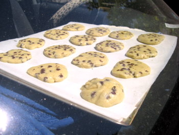 car cookies, 30 minutes in