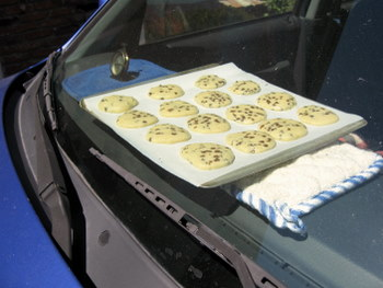 Car Baked Chocolate Chip Cookies