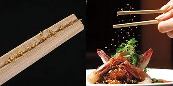 gold leaf chopsticks