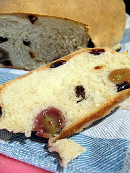 grape bread - innards
