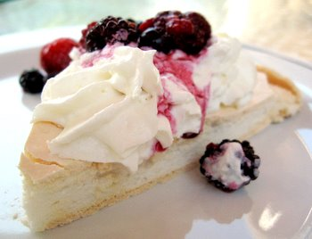 berried pav slice