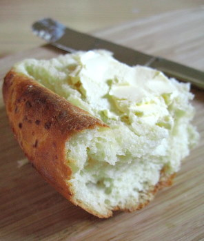 potato bread with butter