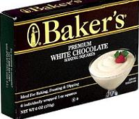 baker's white chocolate
