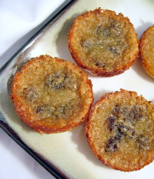 butter tarts with raisins
