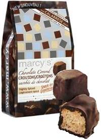 chocolate covered croutons