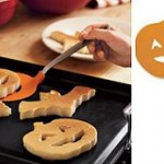 Halloween pancakes and spatula