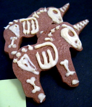 white chocolate skeleton unicorns - I couldn't resist!