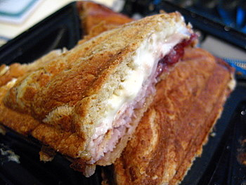 Turkey, Cranberry and Brie Panini