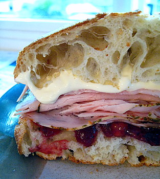 Turkey, Cranberry and Brie sandwich
