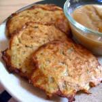 crispy, baked latkes