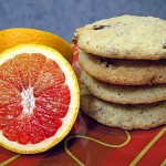 pecan cookies and blood oranges