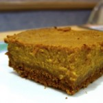 square of pumpkin pie