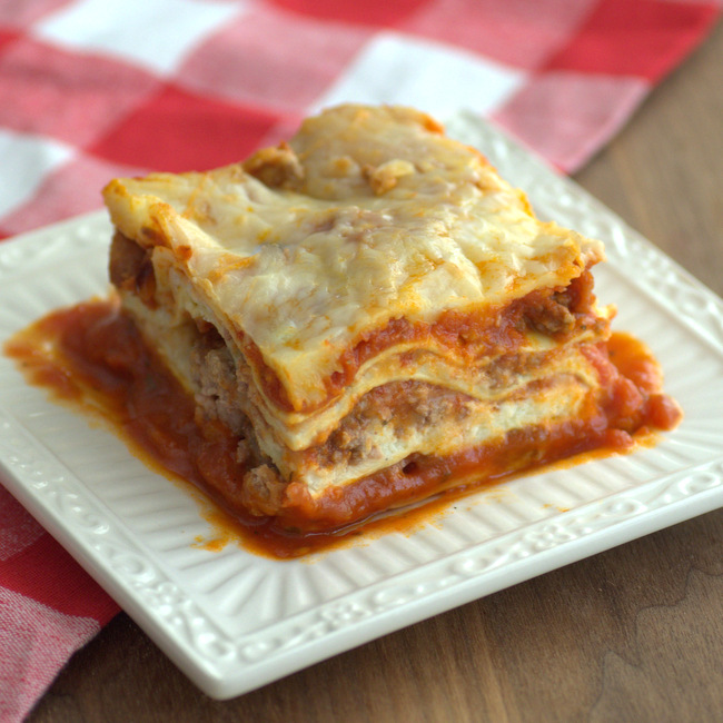 Easy Weeknight Meat Lasagna