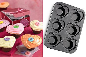 heart crown cupcake pan