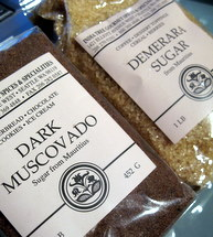 demerara and muscovado sugar