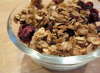 plain bowl of granola