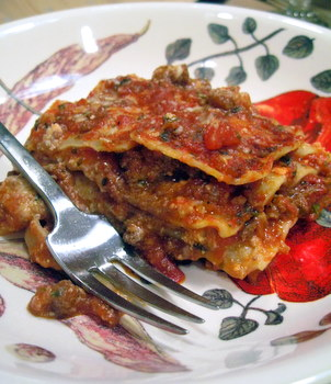 lasagna, ready to eat