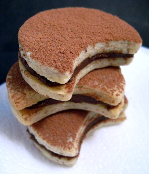 Chocolate Almond Cream Sandwich Cookies