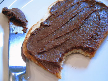 Chocolate Almond Spread on toast