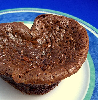 heart-shaped flourless chocolate cake