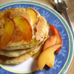 Buttermilk Pancakes with Nectarines... and maple syrup