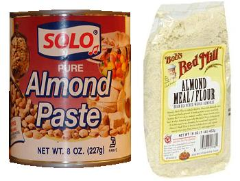almond paste vs. almond meal