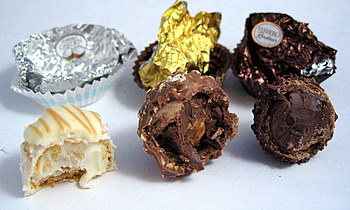 Ferrero Rocher Prestige Collection, innards