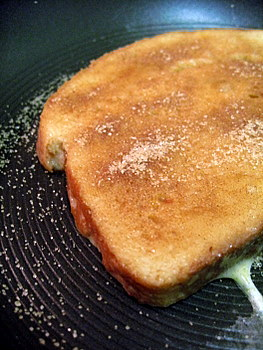 Snickerdoodle French Toast, in progress