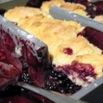baker's edge pan, with cobbler