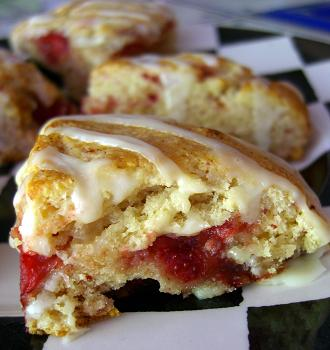 Strawberry Sunrise Scones