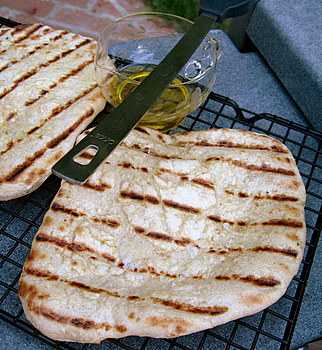 Roasted Garlic Grilled Flatbread