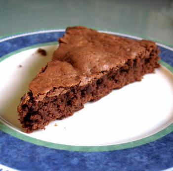 Low Fat Fudgy Brownie Wedge