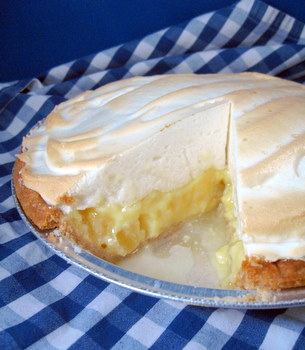 Pineapple Buttermilk Meringue Pie