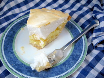 Pineapple Buttermilk Meringue Pie Slice