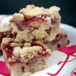 Strawberry Pecan Shortbread Crumble Bars