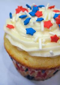 Red, White and Blue Cupcake
